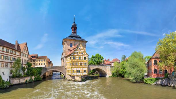 Panorama des alten Rathaus in Bamberg, Deutschland – Foto