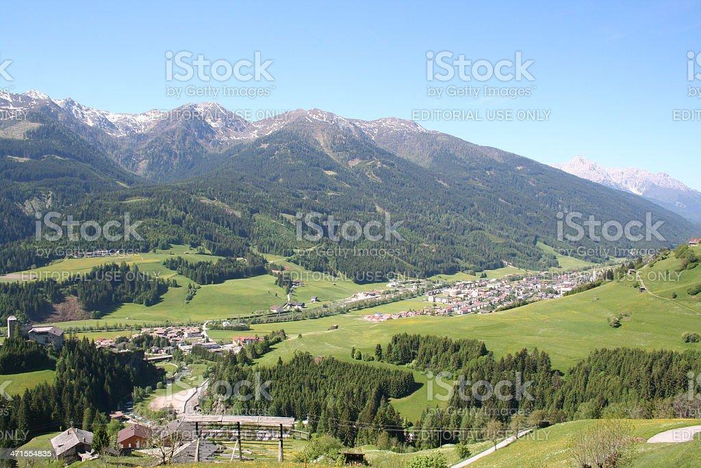 Panorama of Osttirol, close to Heinfels, Tyrol, Summer stock photo