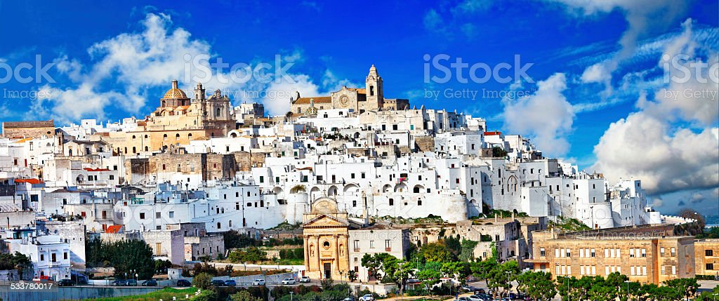 panorama of Ostuni stock photo