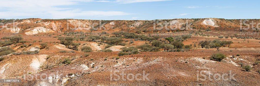 Panorama of Painted Desert, Australia stock photo