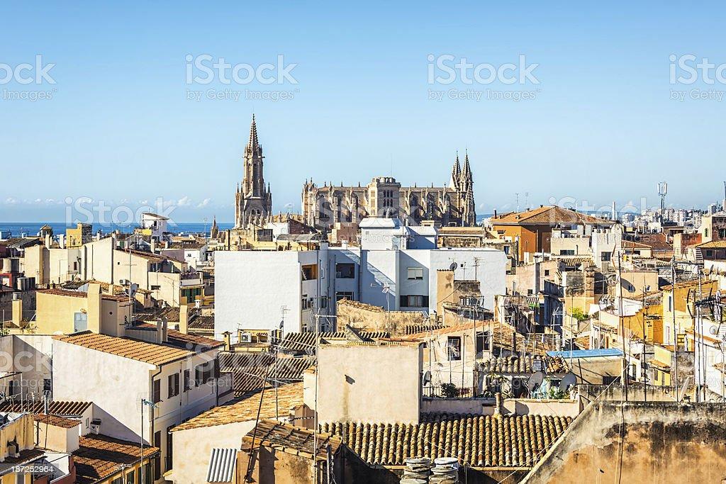 Panorama of Palma de Majorca royalty-free stock photo