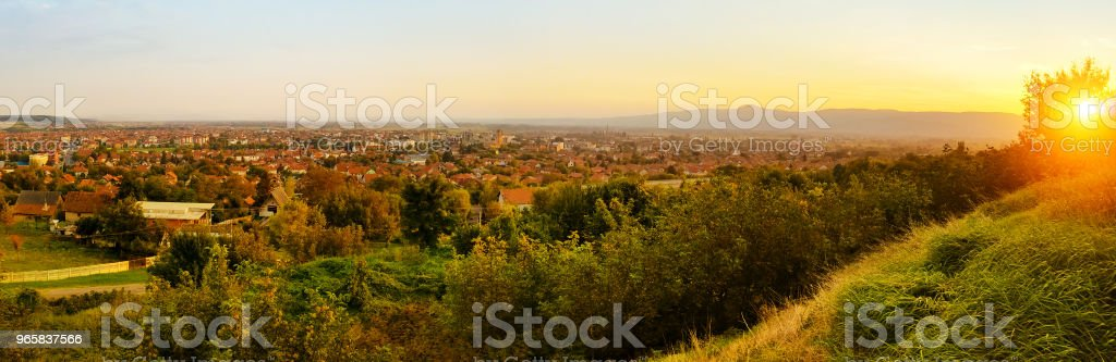 Panorama van Paracin - Royalty-free Achtergrond - Thema Stockfoto