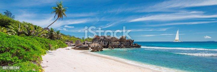istock Panorama of Paradise beach 931185194