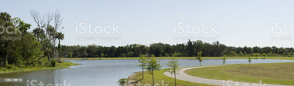 Panorama of Park in Florida stock photo