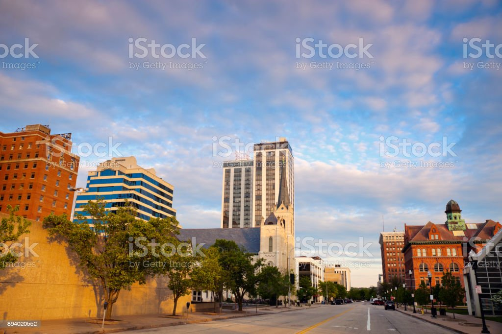 Panorama of Peoria at sunset stock photo