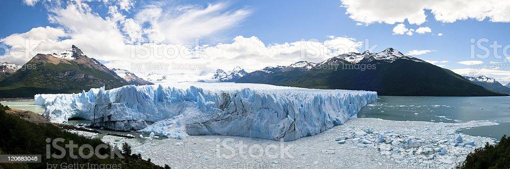 Panorama of Perito Merino Glacier, Argentina stock photo