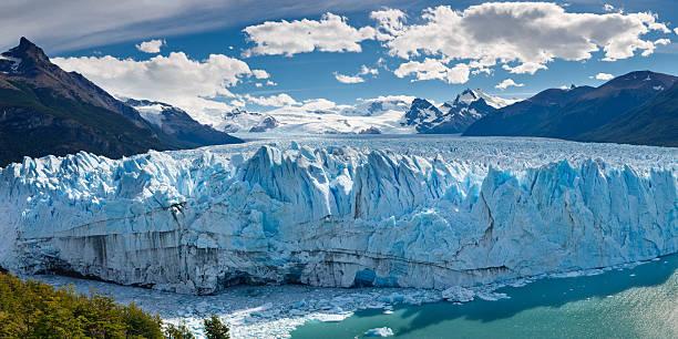 Panorama of Perito Moreno Glacier, Patagonia, Argentina stock photo