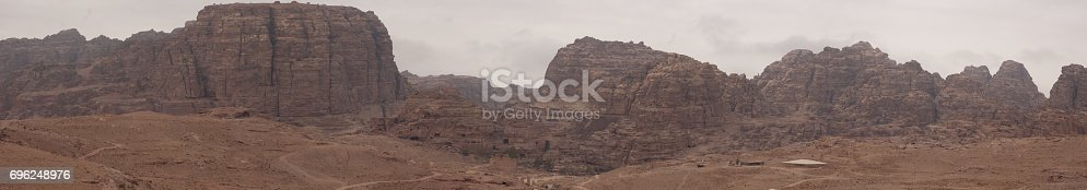 Panoramic view of Magical Petra in Jordan