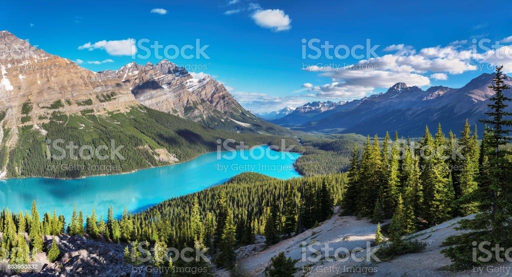 Panorama van het Peytomeer in het Nationaal Park Banff foto