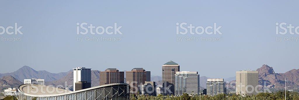 Panorama of Phoenix, AZ royalty-free stock photo
