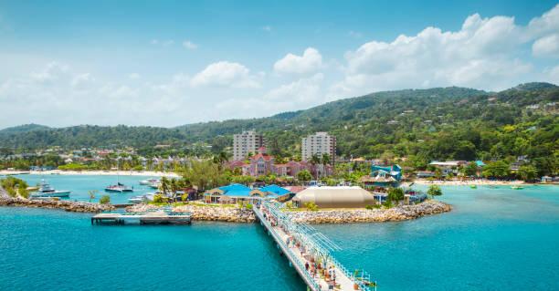 Panorama des Hafens in Ocho Rios auf Jamaika – Foto