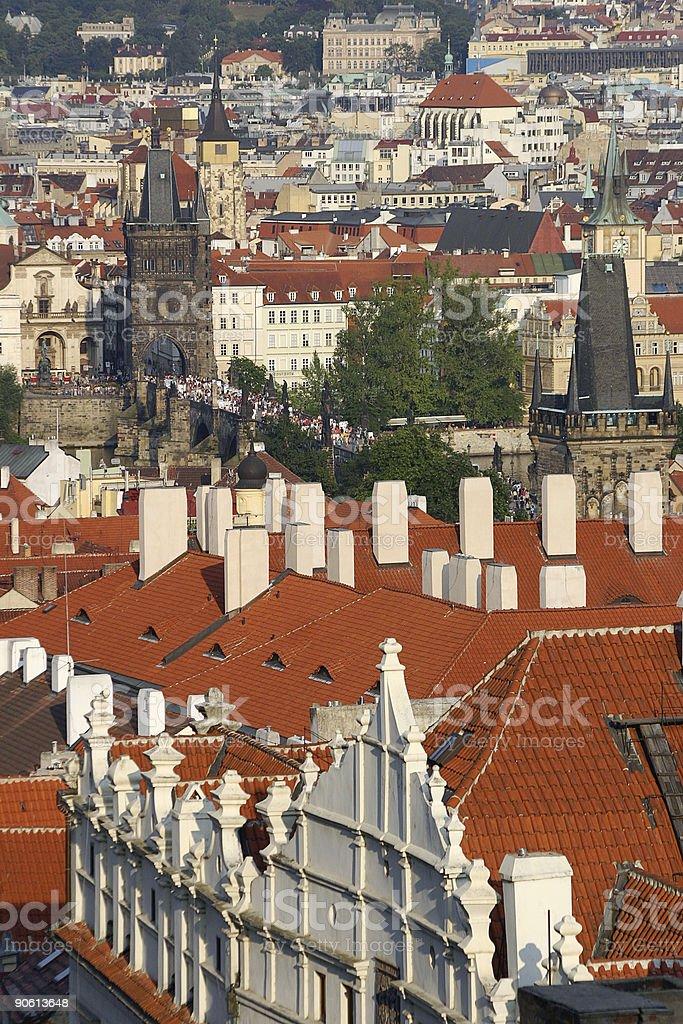 Panorama of Prague royalty-free stock photo