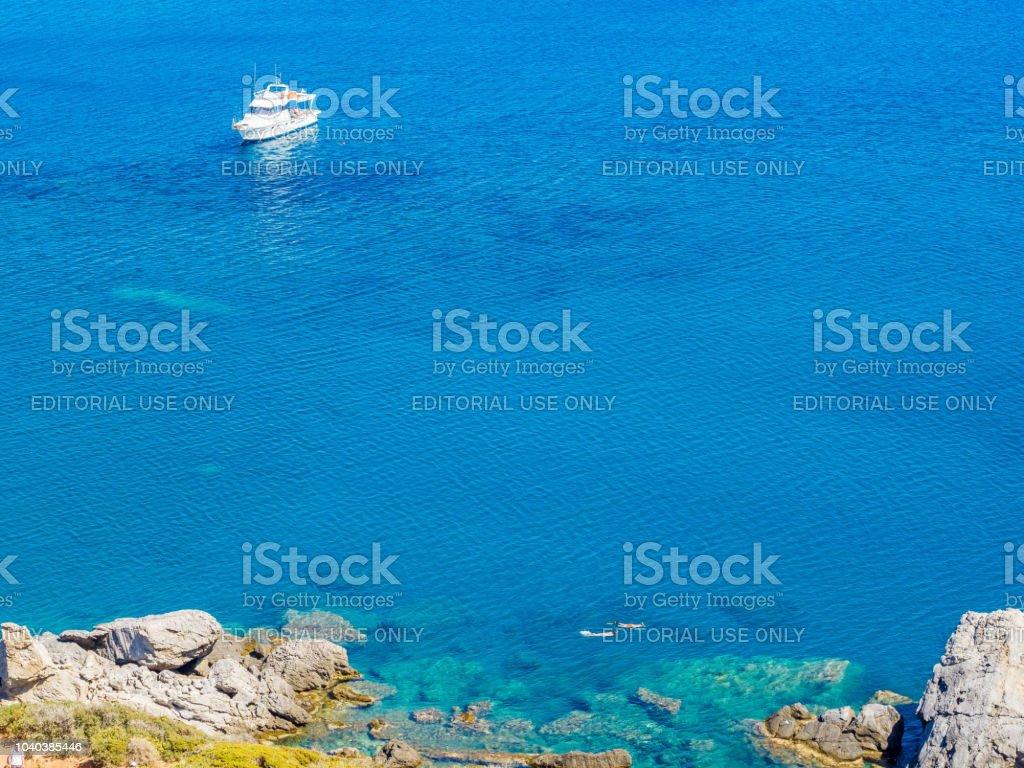 リビア海クレタ島ギリシャでスピ...