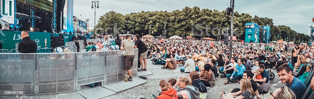 Panorama of public viewing area stock photo