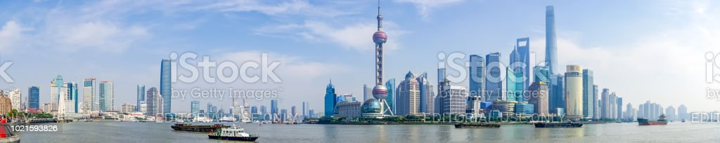 Panorama of Pudong District - Shanghai, China stock photo