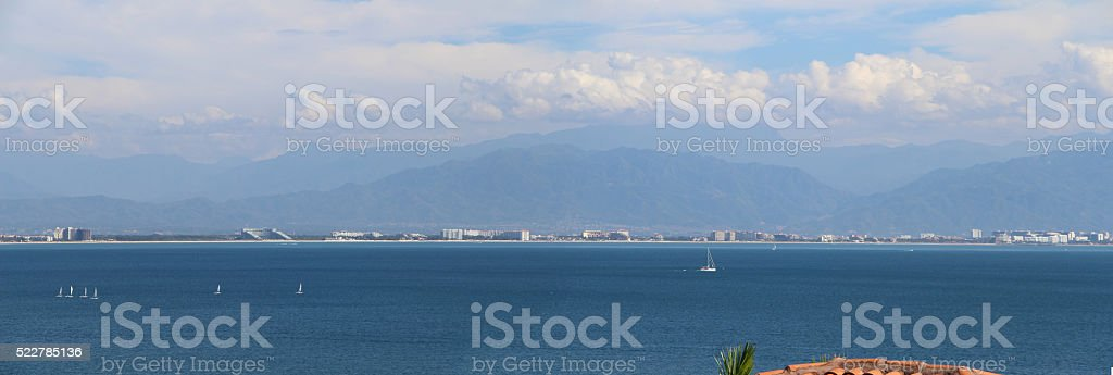 Panorama of Pueblo Puerto Vallarta stock photo
