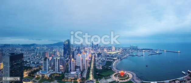 istock Panorama of Qingdao, China 513885778