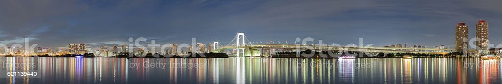 Panorama of Rainbow bridge . stock photo