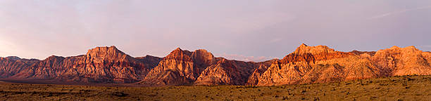 panorama of red rocks canyon landscape - red rocks stock pictures, royalty-free photos & images