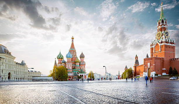 Panorama of Red Square in Moscow, Russia ストックフォト