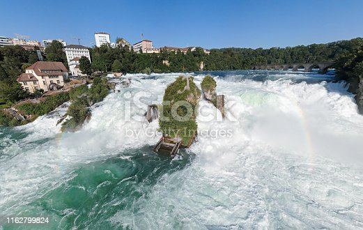 Aerial view of Rhine Falls, Switzerland