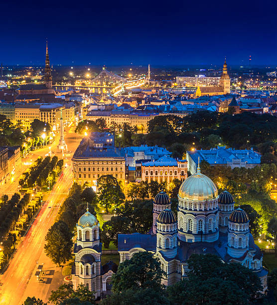 Panorama von Riga Stadt.   Lettland – Foto