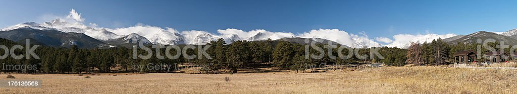 Panorama of Rocky Mountain National Park royalty-free stock photo