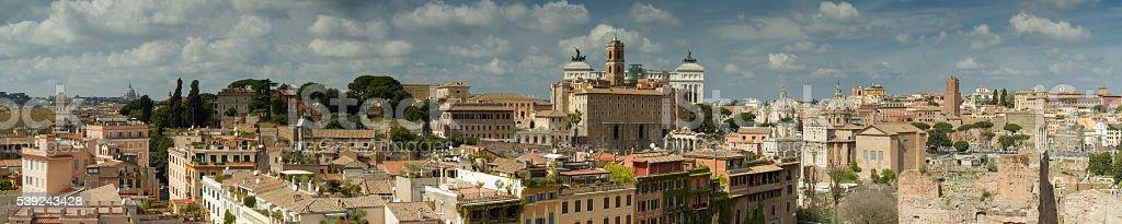 Panorama de Roma, desde la colina del palatino foto de stock libre de derechos