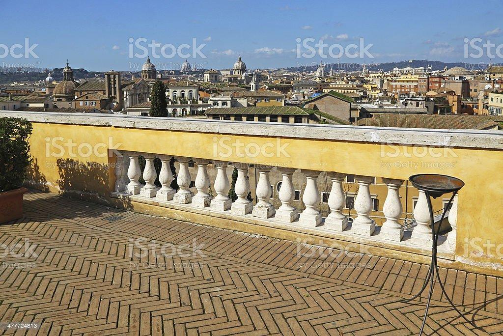 Panorama Di Roma Da Una Meravigliosa Terrazza Fotografie