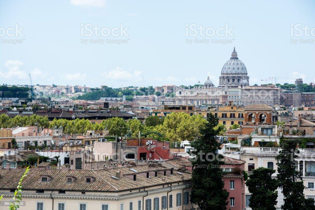 Panorama Of Rome From Piazza Del Popolo And Terrazza Del