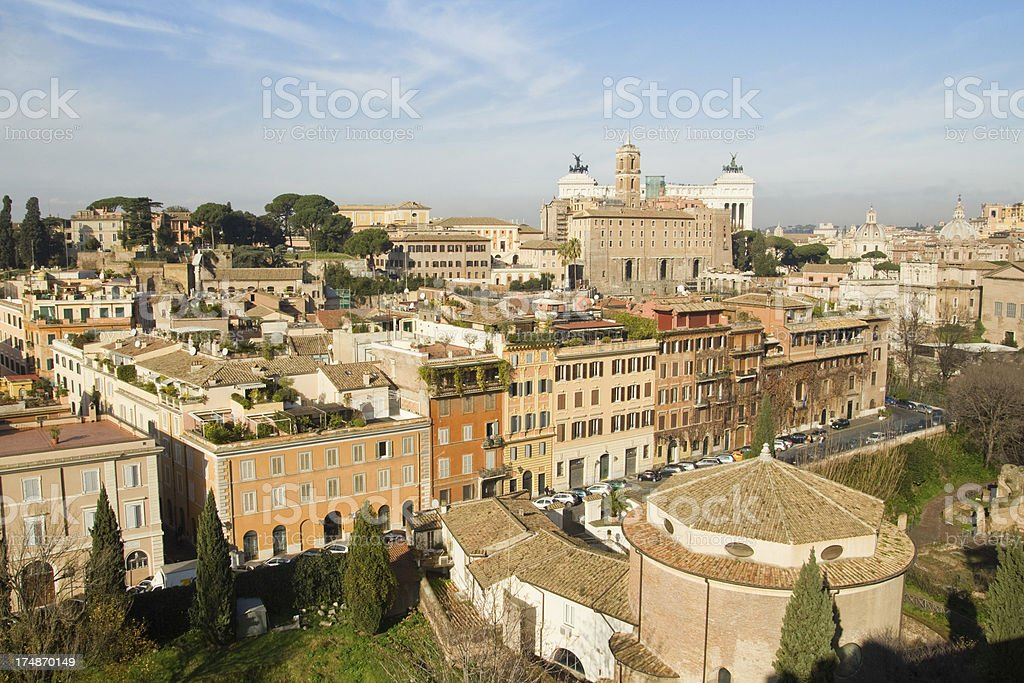 Panorama of Rome royalty-free stock photo
