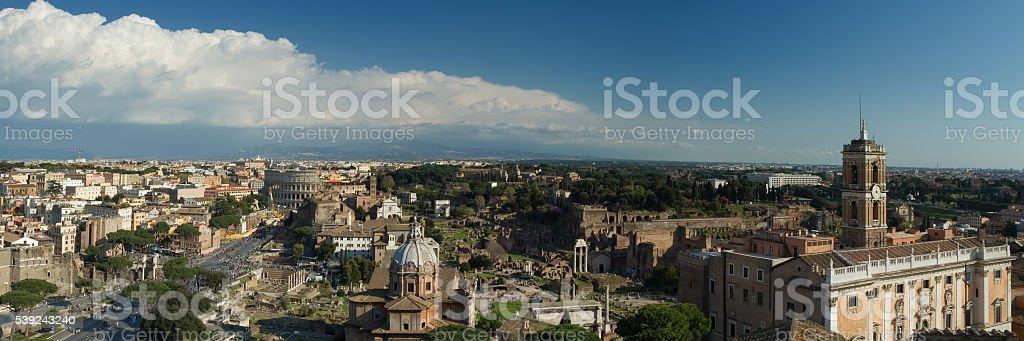 Panorama de Roma foto de stock libre de derechos