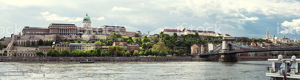 Panorama of Royal Palace (Buda Castle). Budapest, Hungary royalty-free stock photo
