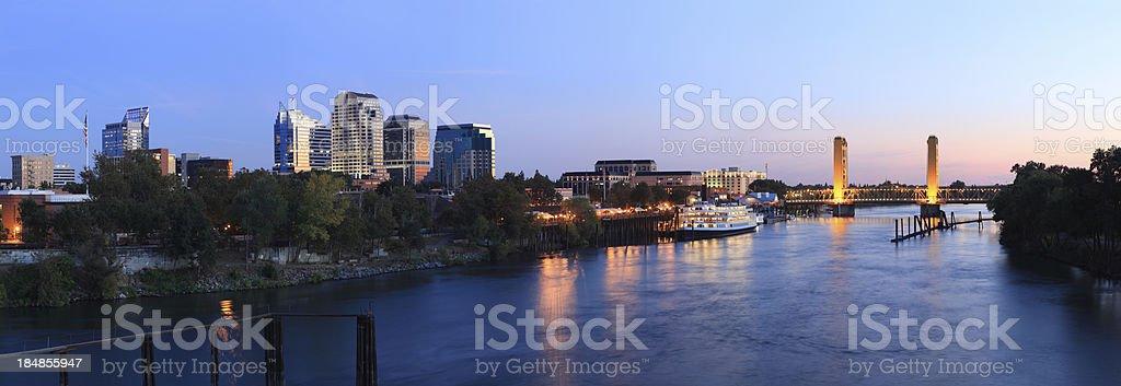 Panorama of Sacramento, California stock photo