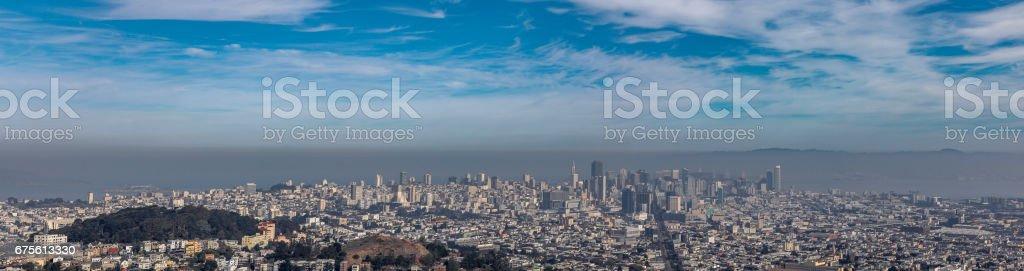 Panorama of San Francisco foto de stock royalty-free