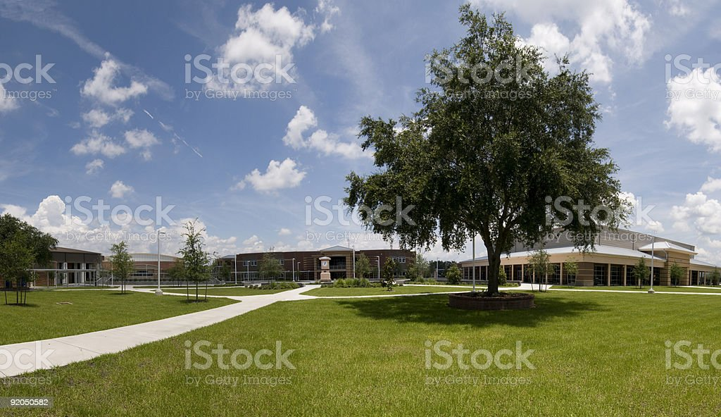 Panorama of School Campus royalty-free stock photo