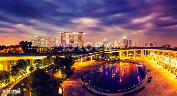 istock Panorama of Singapore skyline 545343798