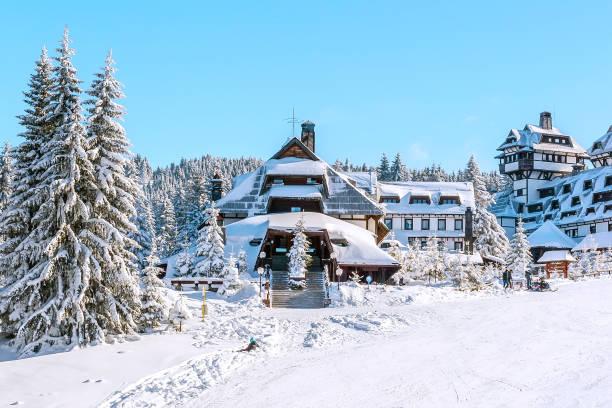 Panorama of ski resort Kopaonik, Serbia stock photo