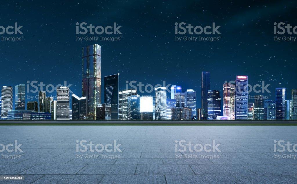 Panorama de gratte-ciels dans une ville moderne - Photo de Architecture libre de droits