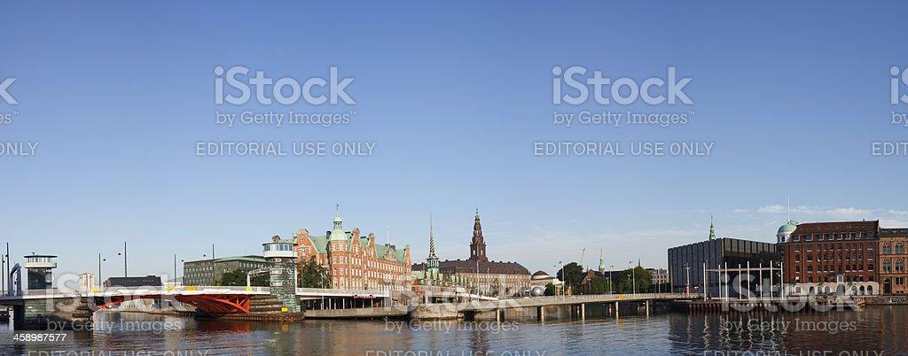 Panorama of Slotsholmen stock photo