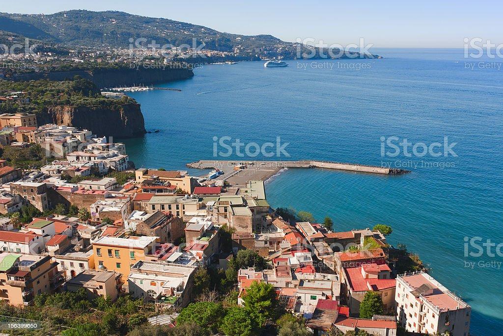 panorama of Sorrento stock photo