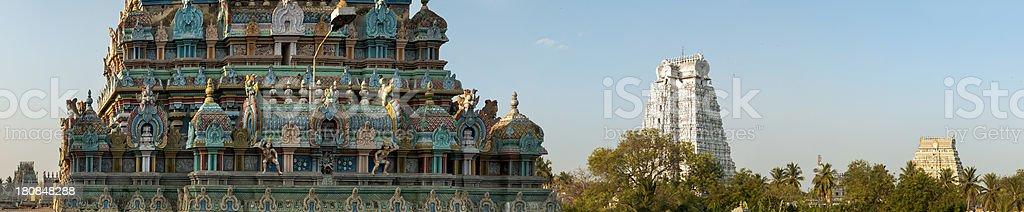 Panorama of Sri Ranganathaswamy Temple, Tamil Nadu, India. stock photo