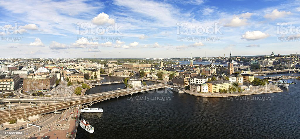 Panorama of Stockholm, Sweden royalty-free stock photo