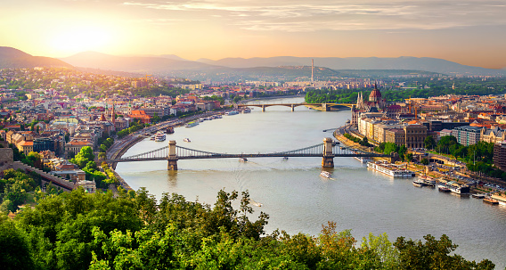 Panorama Of Summer Budapest Stock Photo - Download Image Now