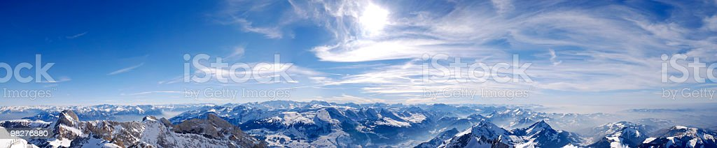 panorama of swiss alps (XXL) stock photo