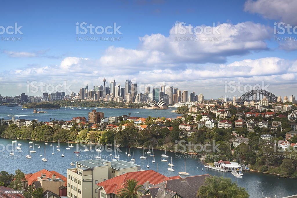 Panorama of Sydney skyline stock photo