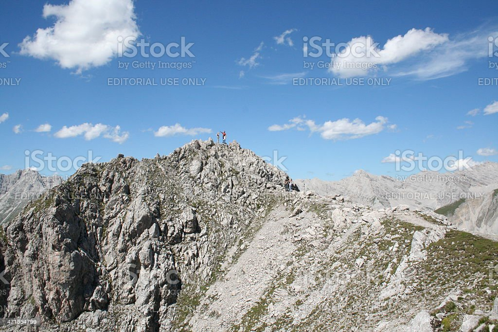 Panorama of the Alps, Nordkette close to Innsbruck, Tyrol, Austria stock photo