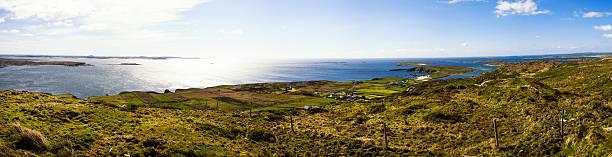 Panorama of the Atlantic Ocean in Ireland stock photo
