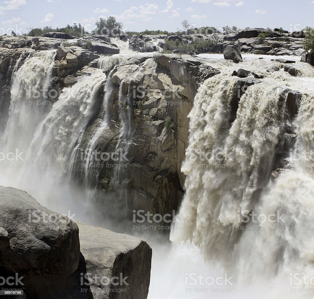 Panorama of the Augrabies Waterfall royalty-free stock photo