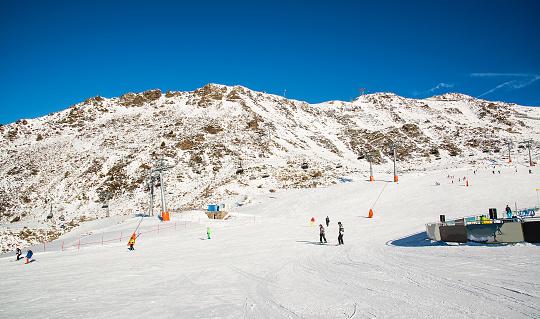 Panorama of the Austrian ski resort of Ischgl.
